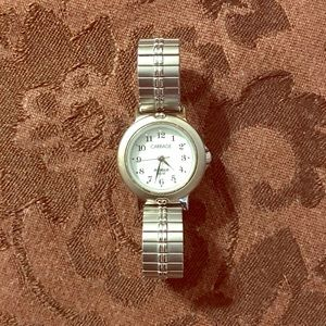 Watch-Carriage Indiglo Silver Tone Women's